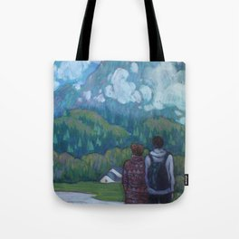 Let's live here Tote Bag