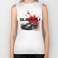 subaru Biker Tanks featuring Cars: Subaru WRX STI by Urbex :: Siam