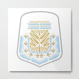 Argentina Crest Metal Print