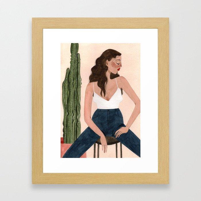 Cactus madness Framed Art Print