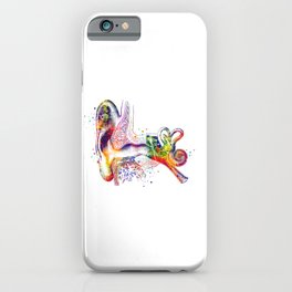Ear Anatomy Art Inner Ear Colorful Watercolor Gift Audiologist Gift Cochlea Histology iPhone Case
