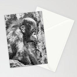 AnimalArtBW_OrangUtan_20170907_by_JAMColorsSpecial Stationery Cards