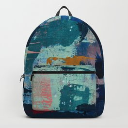 The Peace of Wild Things: a vibrant abstract piece in a variety of colors by Alyssa Hamilton Art Backpack