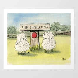 End Simulation Art Print