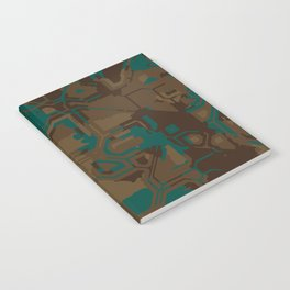 Peacock and Brown Notebook
