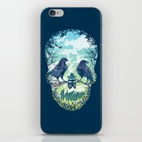 skull iPhone & iPod Skins featuring Nature's Skull by Rachel Caldwell