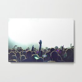 cncert crowd Metal Print