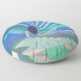 Eclipse Spirals Floor Pillow