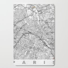 Paris Map Line Cutting Board