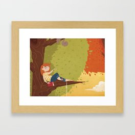 Up a Tree Framed Art Print