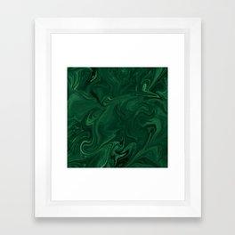 Modern Cotemporary Emerald Green Abstract Framed Art Print