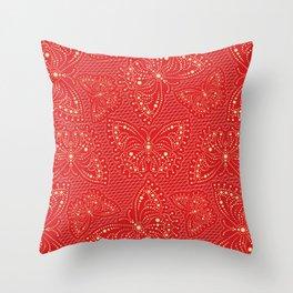 Stylized Butterfly (mandala) 13 Throw Pillow