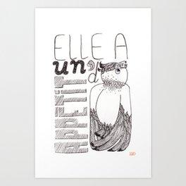 Un appétit d'oiseau Art Print