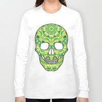 sugar skull Long Sleeve T-shirts featuring Sugar skull by Julia Badeeva