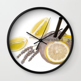 natural welcome cocktail with lemon Wall Clock