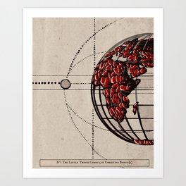 Vintage Planet Art Print