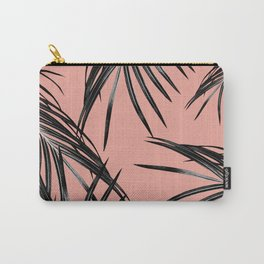 Black Palm Leaves Dream #5 #tropical #decor #art #society6 Carry-All Pouch