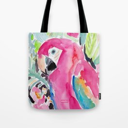 SCARLET THE MACAW Tote Bag