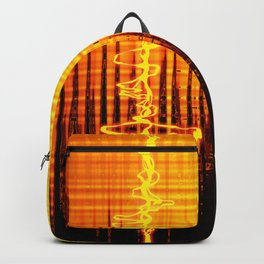 Sound wave orange Backpack