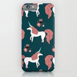 Modern Mare Party - Pink & Dark Green iPhone Case