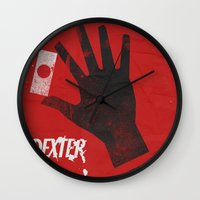 movie poster Wall Clocks featuring Dexter - Alternative Movie Poster by Stefanoreves