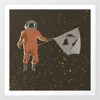 dreamer Art Prints featuring Dreamer by Wolves In Space