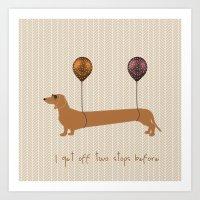 dachshund Art Prints featuring Dachshund by My Studio