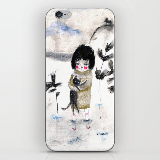 Cat and me iPhone & iPod Skin