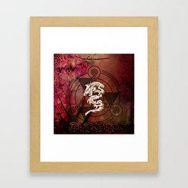 Wonderful chinese dragon Framed Art Print