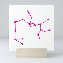 Sagittarius (Magenta & White) Mini Art Print