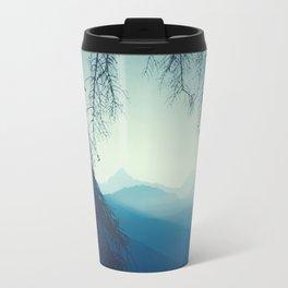 blue morning - vertical tapestry Travel Mug