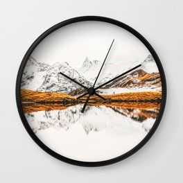Glacial Reflection Wall Clock