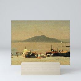 Sanford Robinson Gifford - Mount Vesuvius from Marina Grande, Capri Mini Art Print