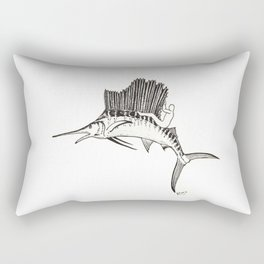 Surfing the fish Rectangular Pillow