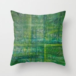 Old green schoolboard Throw Pillow