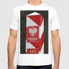 Frontier between Poland and Germany White SMALL Mens Fitted Tee