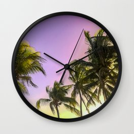 PURPLE AND GOLD SKIES 2 Wall Clock