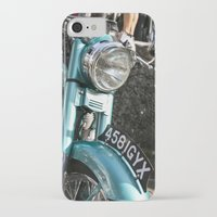 moto iPhone & iPod Cases featuring Vintage moto by Johanna Arias