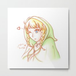 Linkle - white bg vrs. Metal Print