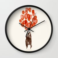 fly Wall Clocks featuring Almost take off by Picomodi