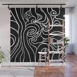 Black Wave 1 Wall Mural