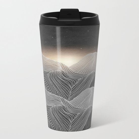 Lines in the mountains XIX Metal Travel Mug
