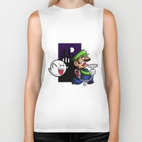 haunted mansion Biker Tanks featuring Haunted Mansion by phiROLL Art & Design