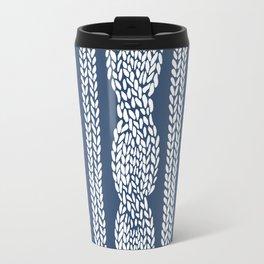 Cable Navy Travel Mug