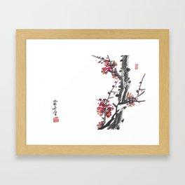 Plum Blossom Two Framed Art Print