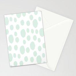 Mint Polka Art Stationery Cards