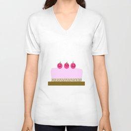 Sweet cake Unisex V-Neck