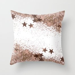 SHAKY STARS ROSEGOLD Throw Pillow
