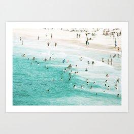 People In The Water Art Print