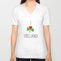 ireland V-neck T-shirts featuring Ireland by David